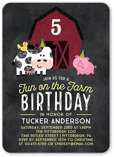 farm birthday invitations shutterfly