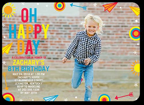 Bold Happy Day Birthday Invitation 5x7 Flat