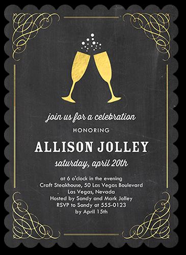 Delighted Celebration Birthday Invitation, Scallop Corners