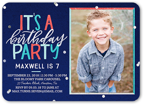 Awesome Celebration Boy Birthday Invitation 5x7 Flat