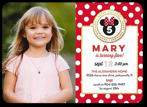 Disney Minnie Mouse Celebration Birthday Invitation