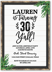 Rustic Frame Birthday Invitation