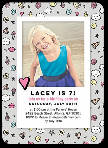 Cheery Icon Party Birthday Invitation