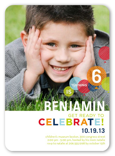 Celebrate Him 5x7 Boy Birthday Invitations Shutterfly
