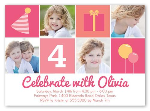 Party Icons Birthday Invitation