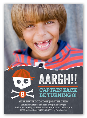 Pirate Party Birthday Invitation