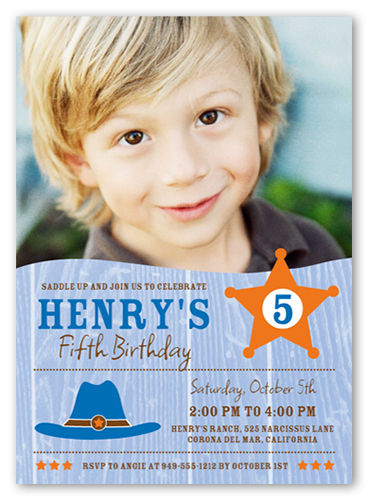 Saddle Up Birthday Invitation, Square