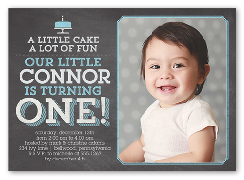 Little Cake Boy X Invite Boy St Birthday Invitations Shutterfly - 1st birthday invitation wording by a baby