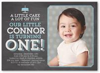 photo baby boy's st birthday invitations  shutterfly, invitation samples