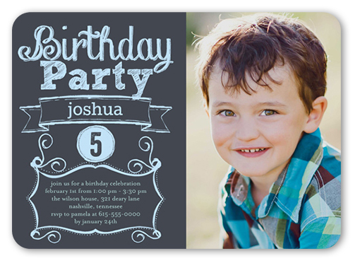 Proudly Parading Boy Birthday Invitation