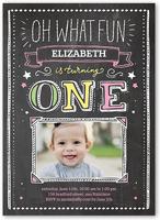1 photo 5x7 baby girl 1st birthday invitations shutterfly
