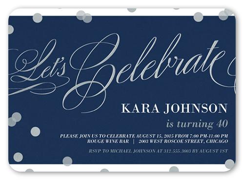 Confetti Sparkle Birthday Invitation