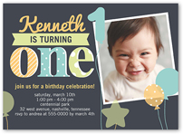 Regular corners 5x7 baby boy 1st birthday invitations birthday birthday invitation from 127 fun balloons filmwisefo