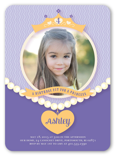 Party Princess Birthday Invitation
