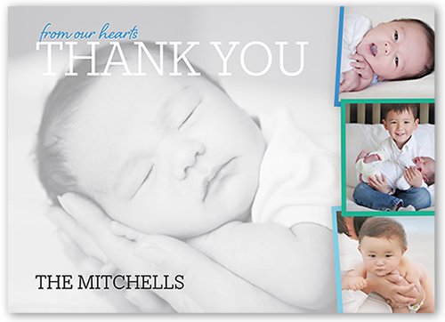 Whimsical Introduction Boy Thank You Card