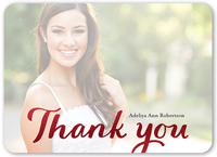 glistening gratitude thank you card 5x7 flat