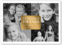 sending thanks thank you card 5x7 flat