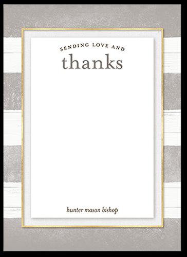 rustic gratitude thank you card