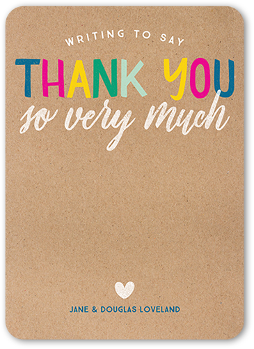 Eccentric Greeting Thank You Card
