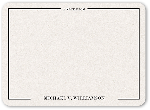 simple antique 5x7 stationery card by Éclair paper company shutterfly