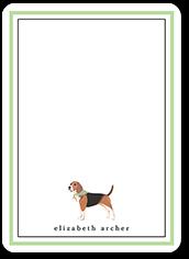 beagle dog love thank you card