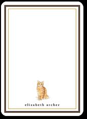 orange cat love thank you card