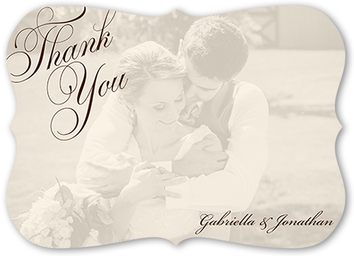 Romantic Overlay Thank You Card
