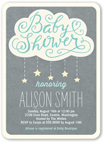 showering stars boy baby shower invitation 5x7 flat