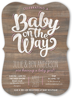 baby girl on the way baby shower invitation 5x7 flat