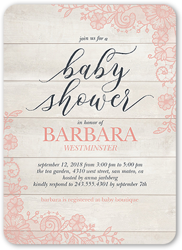 Floral Mother Baby Shower Invitation, Rounded Corners
