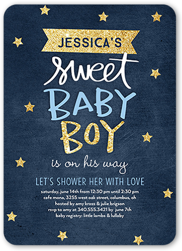 Starry Sweet Photo Baby Shower Invitation Cards Shutterfly
