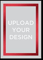 upload your own foil design portrait baby shower invitation 5x7 flat