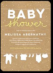 cute linens baby shower invitation 5x7 flat