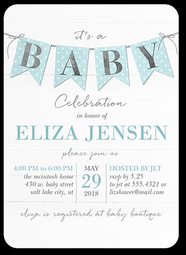 Boy 5x7 Baby Shower Invitation Cards
