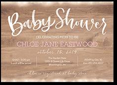 beaming celebration girl baby shower invitation