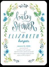 dab75ff0df7 floral garland boy baby shower invitation