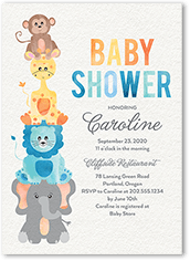 Safari Soiree Baby Shower Invitation