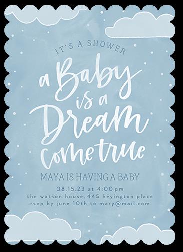 Dream Come True Baby Shower Invitation