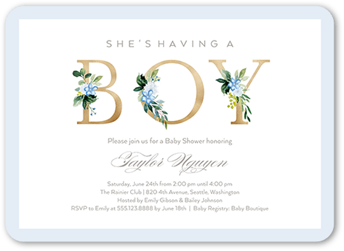Sprouted Beginnings Baby Shower Invitation