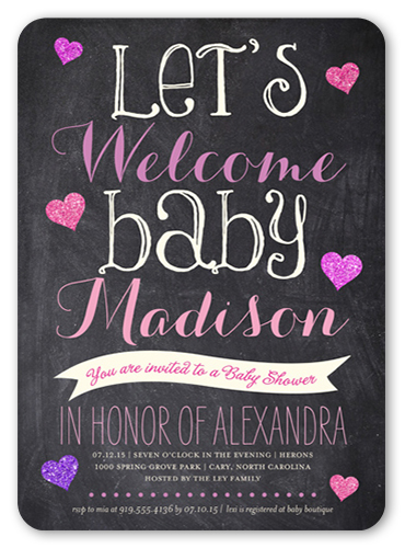 Shower Bulletin Baby Shower Invitation
