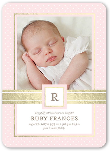Splendid Introduction Girl Birth Announcement