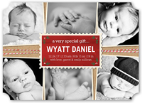 special gift birth announcement 5x7 flat