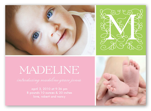 Storybook Setting 5x7 Baby Girl Birth Announcements – Birth Announcements Shutterfly