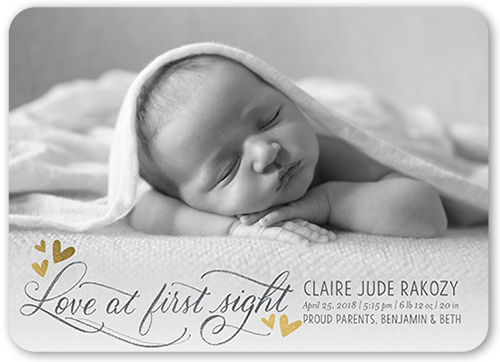 Love At First Sight Birth Announcement