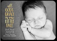 gods grace birth announcement 5x7 flat