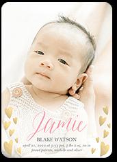 heart frames birth announcement