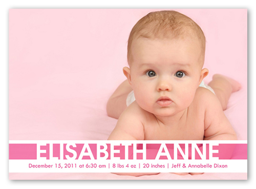 Pink Baby Girl Birth Announcement – Shutterfly Baby Announcements