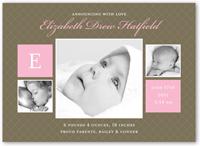 baby love rose birth announcement 5x7 flat