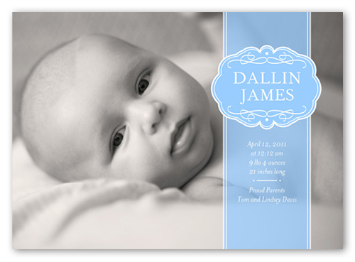 Classic Baby Boy Birth Announcement Announcements – Boy Birth Announcement
