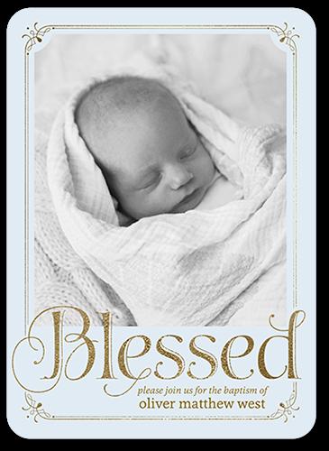 Boldly Blessed Boy 5x7 Christening Invitations
